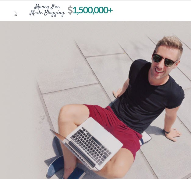 This guy made over one million dollars by Blogging online